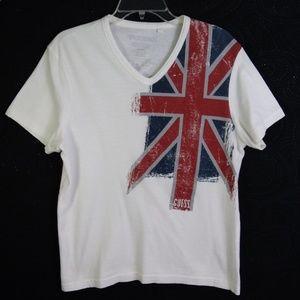 🇬🇧 L - Vintage Guess Jeans Union Jack T-shirt